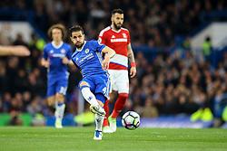 Cesc Fabregas of Chelsea passes the ball forward - Mandatory by-line: Jason Brown/JMP - 08/05/17 - FOOTBALL - Stamford Bridge - London, England - Chelsea v Middlesbrough - Premier League