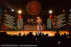 Cole Swindel performs at the Easyriders Saloon in downtown Sturgis during the 75th Annual Sturgis Black Hills Motorcycle Rally.  SD, USA.  August 7, 2015.  Photography ©2015 Michael Lichter.