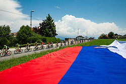 Peloton in Smlednik during 3rd Stage of 26th Tour of Slovenia 2019 cycling race between Zalec and Idrija (169,8 km), on June 21, 2019 in Slovenia. Photo by Vid Ponikvar / Sportida