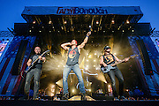 Kip Moore performing at the FarmBorough Country Music Festival on Randall's Island in New York City on June 27, 2015