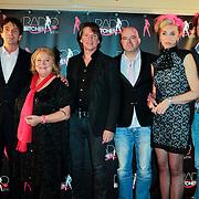 NLD/Amsterdam/20111207- Radiobitches Awards 2011, jury Radiobitches, Sieb Kroeske, Erik de Zwart en Tineke de Nooy, Pierre Papa, Marjolein Dekkers en Iwan Reuvekamp