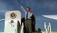 A 28 MG IMAGE OF:<br /> The Carter Years.  <br /> President Jimmy Carter waves before departing on Air Force One<br /> Photo by Dennis Brack B 2