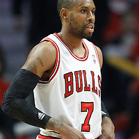 26 March 2012: Chicago Bulls point guard C.J. Watson (7) rests during the Denver Nuggets 108-91 victory over the Chicago Bulls at the United Center, Chicago, Illinois, USA. NOTE TO USER: User expressly acknowledges and agrees that, by downloading and or using this photograph, User is consenting to the terms and conditions of the Getty Images License Agreement. Mandatory Credit: 2012 NBAE (Photo by Chris Elise/NBAE via Getty Images)