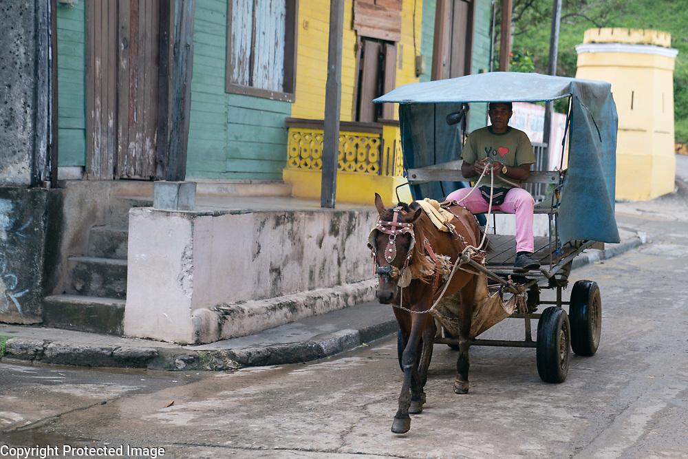 Baracoa street scene, Cuba 2020 from Santiago to Havana, and in between.  Santiago, Baracoa, Guantanamo, Holguin, Las Tunas, Camaguey, Santi Spiritus, Trinidad, Santa Clara, Cienfuegos, Matanzas, Havana