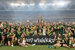 December 2, 2017 - Brisbane, Australie - Australia champions during the Rugby League World Cup Men s Final match between Australia and England at Brisbane Stadium, Brisbane, Australia on 2 December 2017 (Credit Image: © Panoramic via ZUMA Press)