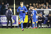 AFC Wimbledon striker Joe Pigott (39) coming on as sub during the EFL Sky Bet League 1 match between AFC Wimbledon and Blackpool at the Cherry Red Records Stadium, Kingston, England on 20 January 2018. Photo by Matthew Redman.