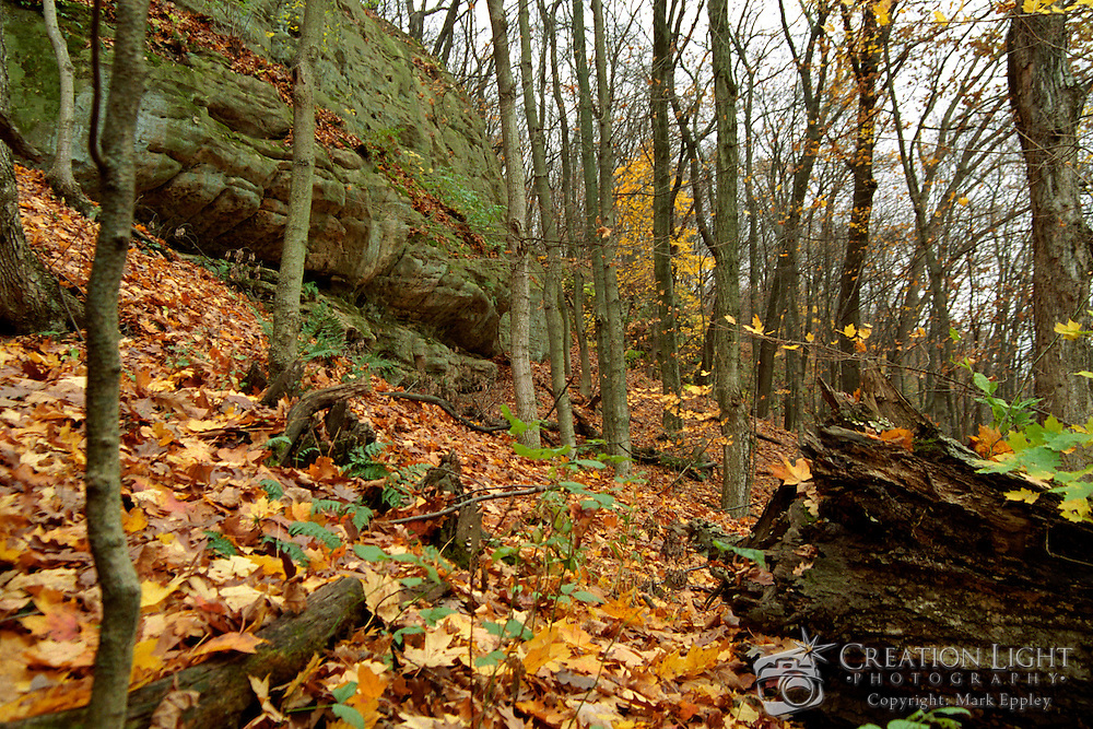 Starved Rock State Park is known for its multiple canyons and waterfalls which are unlike the flat midwest.  The canyons and waterfalls are all close to each other.  Being less that than two hours from Chicago, the park is popular place for hiking.