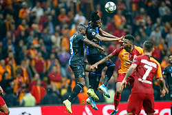 November 26, 2019, Galatasaray, Turkey: Club's Eder Balanta, Club's Simon Deli and Galatasaray's Ryan Donk fight for the ball during a game between Turkish club Galatasaray and Belgian soccer team Club Brugge, Tuesday 26 November 2019 in Istanbul, Turkey, fifth match in Group A of the UEFA Champions League. (Credit Image: © Bruno Fahy/Belga via ZUMA Press)
