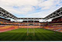 7 June 2013; A view of the Suncorp Stadium during British & Irish Lions kickers practice ahead of their game against Queensland Reds on Saturday. British & Irish Lions Tour 2013, Kickers Practice, Suncorp Stadium, Brisbane, Queensland, Australia. Picture credit: Stephen McCarthy / SPORTSFILE