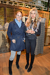 Left to right, SERENA OPPENHEIM and BRIANNA RHYS at a party to celebrate the publication of The Naturalista by Xochi Balfour held at Anthropologie, 158 Regent Street, London on 19th April 2016.