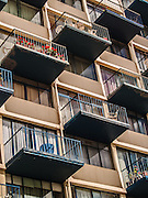 Vina del Mar, February 2011. Flat balconies in geometriacl angle.