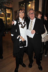 FRANK & CHERRYL COHEN at a private view of the Royal Academy's Modern British Sculpture exhibition held at Burlington House, Piccadilly, London on 18th January 2011.