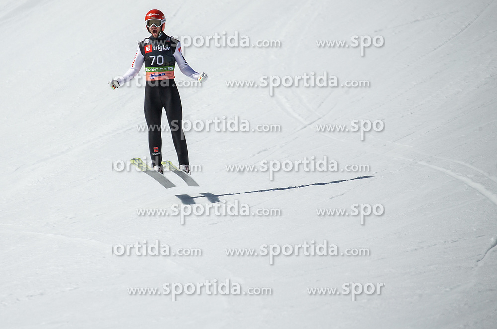 Markus Eisenbichler (GER) reacts during the Trial Round of the Ski Flying Hill Individual Competition at Day 1 of FIS Ski Jumping World Cup Final 2019, on March 21, 2019 in Planica, Slovenia. Photo by Vid Ponikvar / Sportida