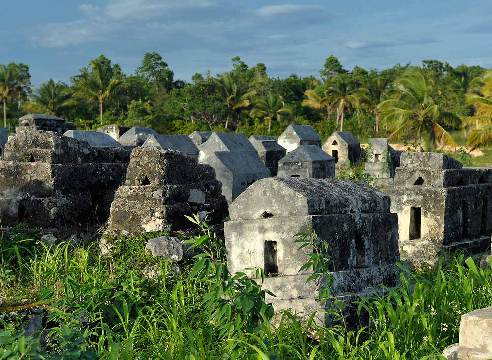 Tombstones in Mizak, a small village in the south of Haiti.