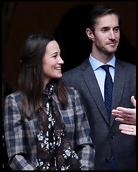 December 25, 2016 - London, London, United Kingdom - Image ©Licensed to i-Images Picture Agency. 25/12/2016. London, United Kingdom. Duke and Duchess of Cambridge Christmas Day Service. Englefield. ..Pippa Middleton, James Matthews and Michael Middleton leave following the morning Christmas Day service at St Mark's Church in Englefield, Berkshire..Picture by  i-Images / Pool (Credit Image: © i-Images via ZUMA Press)