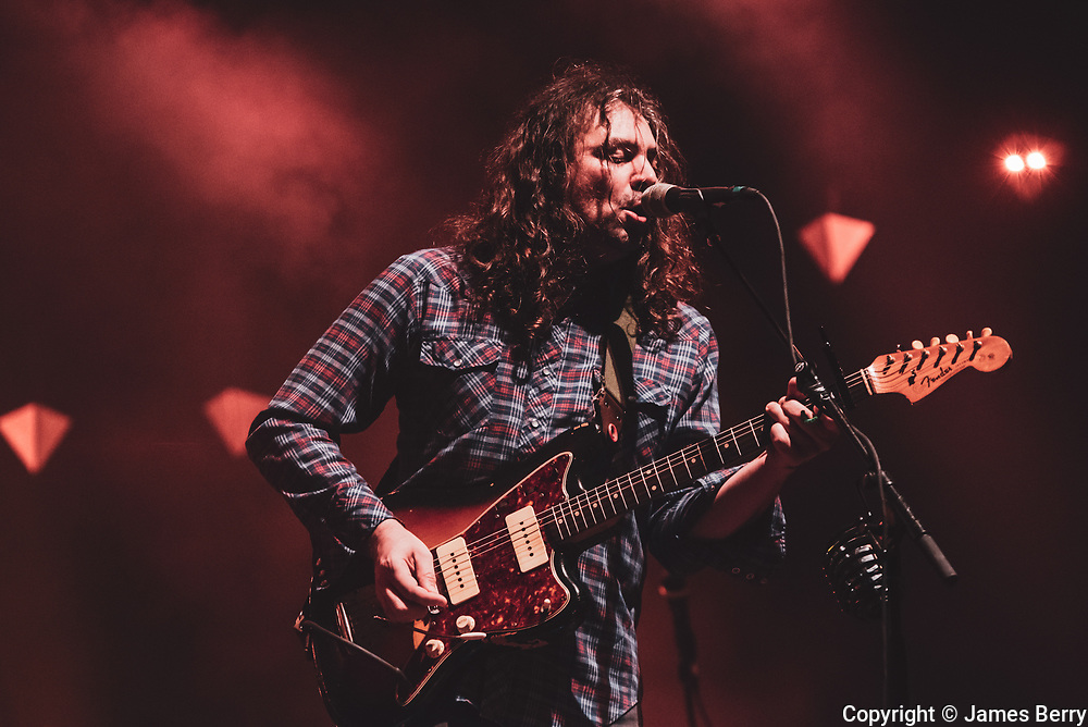 The War on Drugs live at Alexandra Palace, London, on Tuesday 14 November 2017. Picture shows Adam Granduciel.