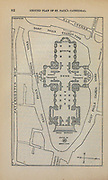 Ground Plan of St. Paul's Cathedral From the book ' London and its environs : a practical guide to the metropolis and its vicinity, illustrated by maps, plans and views ' by Adam and Charles Black Published in Edinburgh by A. & C. Black 1862