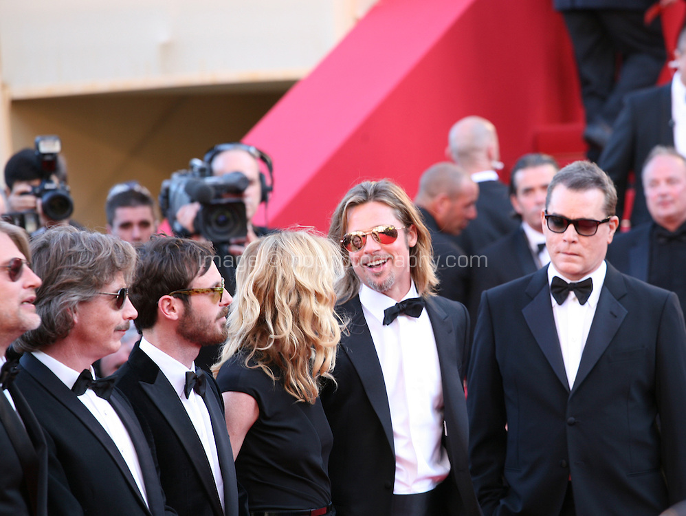 Ben Mendelsohn, Scoot McNairy, Dede Gardner, Brad Pitt and Ray Liotta at the Killing Them Softly gala screening at the 65th Cannes Film Festival France. Tuesday 22nd May 2012 in Cannes Film Festival, France.