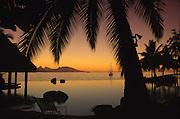 Sunset, Tahiti Beachcomber Hotel, Island of Tahiti, French Polynesia<br />
