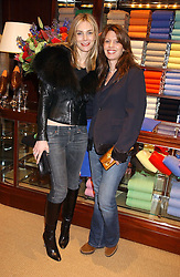 Left to right, KIM HERSOV and LAUREN BOOTH at a party at Ralph Lauren, Bond Street, London in support of the NSPCC's Full Stop campaign on 21st March 2006.<br /><br />NON EXCLUSIVE - WORLD RIGHTS