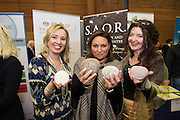Trish Healy and Brighid Daly from Saor  and Norah Casey at the annual SCCUL Enterprise Awards prize giving ceremony and business expo which was hosted by NUI Galway in the Bailey Allen Hall, NUIG. Photo:Andrew Downes