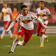 Fabian Espindola, New York Red Bulls, in action during the New York Red Bulls V New England Revolution, Major League Soccer regular season match at Red Bull Arena, Harrison, New Jersey. USA. 20th April 2013. Photo Tim Clayton