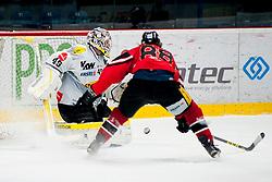 26.02.2016, Ice Rink, Znojmo, CZE, EBEL, HC Orli Znojmo vs Dornbirner Eishockey Club, Viertelfinale, 1. Spiel, im Bild v.l. Florian Hardy (Dornbirner Eishockey Club), Libor Sulak (HC Orli Znojmo) // f.l. Florian Hardy (Dornbirner Eishockey Club), Libor Sulak (HC Orli Znojmo) during the Erste Bank Icehockey League 1st quarterfinal match between HC Orli Znojmo and Dornbirner Eishockey Club at the Ice Rink in Znojmo, Czech Republic on 2016/02/26. EXPA Pictures © 2016, PhotoCredit: EXPA/ Rostislav Pfeffer