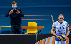 Press manager Lycurgus in action during the last final league match between Draisma Dynamo vs. Amysoft Lycurgus on April 25, 2021 in Apeldoorn.