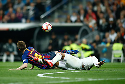 March 2, 2019 - Madrid, MADRID, SPAIN - Ivan Rakitic of FC Barcelona and Casemiro of Real Madrid during the spanish league, La Liga, football match played between Real Madrid and FC Barcelona at Santiago Bernabeu Stadium in Madrid, Spain, on March 02, 2019. (Credit Image: © AFP7 via ZUMA Wire)