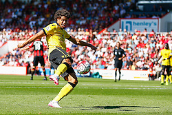 Rudy Gestede of Aston Villa shoots - Mandatory by-line: Jason Brown/JMP - Mobile 07966 386802 08/08/2015 - FOOTBALL - Bournemouth, Vitality Stadium - AFC Bournemouth v Aston Villa - Barclays Premier League - Season opener