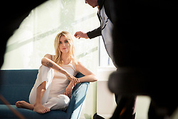 """Gisele Bündchen is playing coy in a new lingerie campaign with Italian brand Intimissimi. The supermodel and mother-of-two is seen here in behind-the-scenes photos looking sexy and sophisticated in silky daywear, but crucially in revealing her choice of summer bra — a floral pink lace number — she keeps her clothes on, leaving ever more to the imagination. The brand previously ran with this """"Inside and Out"""" campaign with Irina Shayk, Dakota Johnson, and Ana Ivanović. And this second campaign featuring Gisele also stars style influencer Chiara Ferragni. Explaining what inspired her to take part in the imaginative Intimissimi campaign, Gisele recently told InStyle: """"Sensuality to me comes from inner confidence and feeling good about who you are. """"It feels more intimate. You leave so much to the imagination. It leaves you wondering what kind of underwear this type of woman would wear? """"I think there is something so sensual and beautiful about the mystery of not seeing the underwear."""". 16 May 2018 Pictured: Gisele Bündchen and style influencer Chiara Ferragni pictured behind the scenes of the Spring/ Summer 2018 Intimissimi campaign photoshoot. Photo credit: Intimissimi/ MEGA TheMegaAgency.com +1 888 505 6342"""