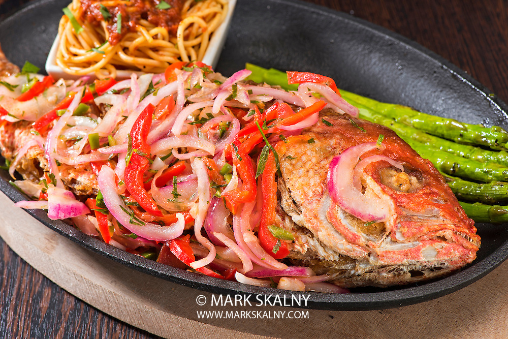 """I always said, """"If your food is looking back at you, don't eat it."""" Well, this red snapper presentation was amazing and if this was a scratch and sniff monitor you would understand how well it tasted and smelled too!<br /> <br /> Corporate  Photography  <br /> by Mark Skalny 1-888-658-3686  <br /> www.markskalny.com  <br /> #MSP1207"""