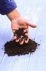 Example of peaty soil