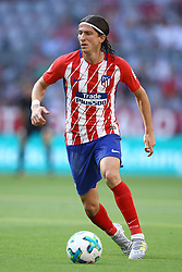 August 1, 2017 - Munich, Germany - Filipe Luis of Atletico de Madrid during the first Audi Cup football match between Atletico Madrid and SSC Napoli in the stadium in Munich, southern Germany, on August 1, 2017. (Credit Image: © Matteo Ciambelli/NurPhoto via ZUMA Press)