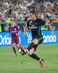 July 26, 2017 - Los Angeles, California, U.S - Gareth Bale #11 of Real Madrid controls the ball during their International Champions Cup game with Manchester City at the Los Angeles Memorial Coliseum in Los Angeles, California on Wednesday July 26, 2017. Manchester City defeats Real Madrid, 4-1. (Credit Image: © Prensa Internacional via ZUMA Wire)