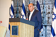 "Lt. General Shaul Mofaz (born 4 November 1948) is an Iranian-born Israeli former soldier and politician. Photographed on August 10 2015 at Beit HaNassi (""President's House"")"
