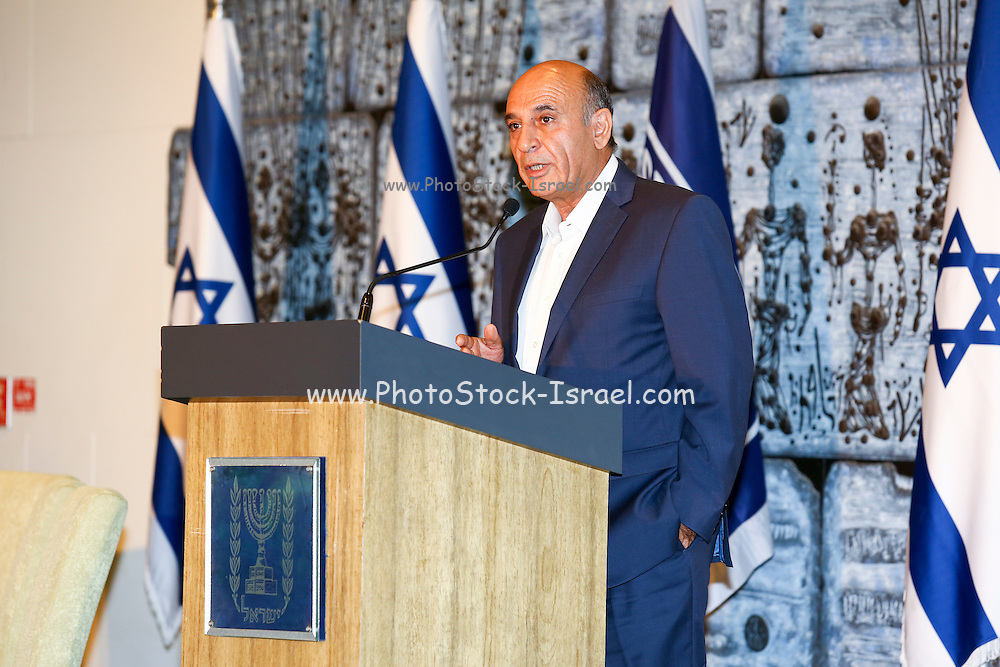"""Lt. General Shaul Mofaz (born 4 November 1948) is an Iranian-born Israeli former soldier and politician. Photographed on August 10 2015 at Beit HaNassi (""""President's House"""")"""