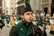 Galician piper in the parade.