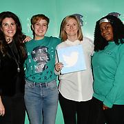 Monica Lewinsky and Katy Minshall attend The Diana Award anti-bullying week at Alexandra Palace on 12 November 2018, London, UK.