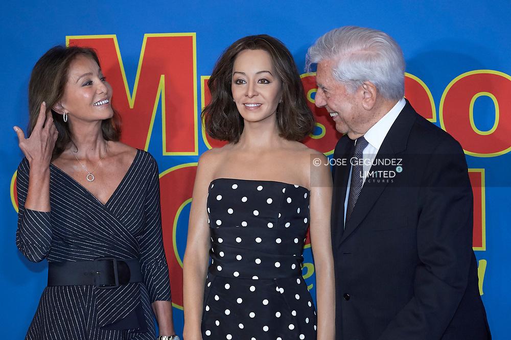 Isabel Preysler, Mario Vargas Llosa present 'Isabel Preysler was Figure' at Wax Museum on October 11, 2018 in Madrid, Spain