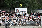 American Football: European League of Football, Hamburg Sea Devils - Berlin Thunder, Hamburg, 11.07.2021<br /> Fans Hamburg Sea Devils<br /> © Torsten Helmke