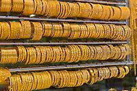 Bangles (gold bracelets), Gold Souk, Dubai, United Arab Emirates