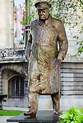 Bronze statue of Sir Winston Churchill in Paris, France