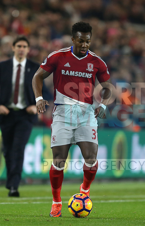 Adama Traore of Middlesbrough during the English Premier League match at the Riverside Stadium, Middlesbrough. Picture date: December 14th, 2016. Pic Simon Bellis/Sportimage