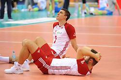 Lukasz Kaczmarek, Grzegorz Lomacz of Poland during the CEV Volleyball European Championship game Poland - Slovenia on August 30, 2017 in Krakow, Poland. (Photo by Krzysztof Porebski / Press Focus)