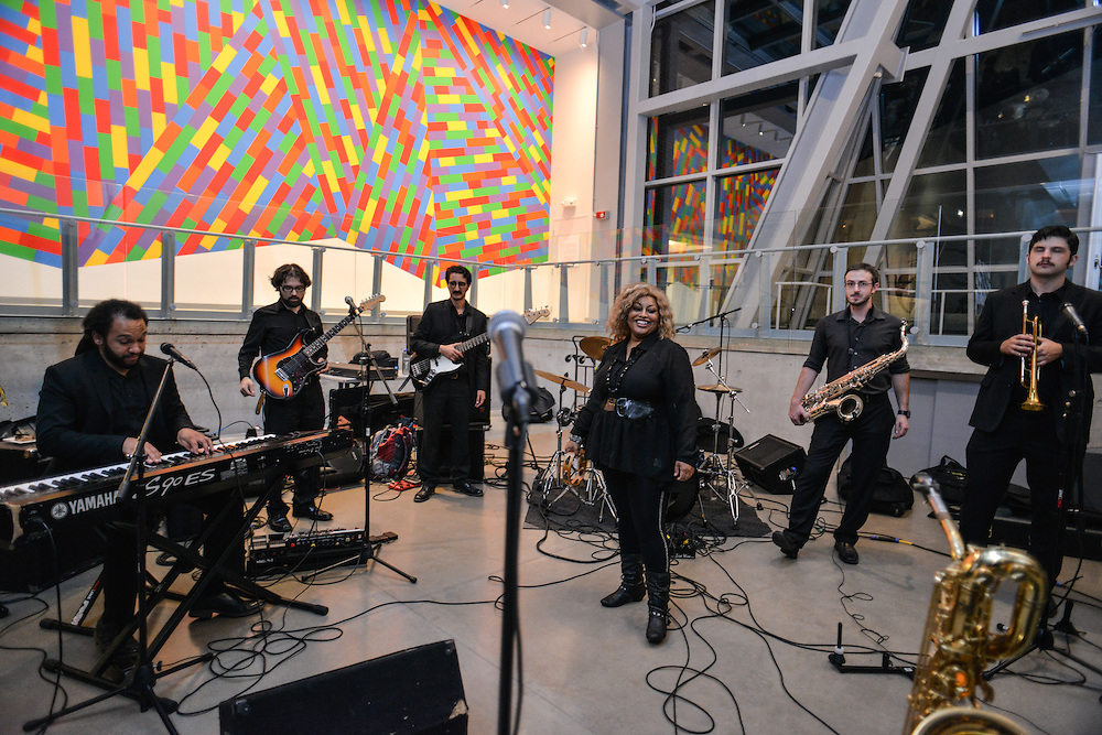 Musicians performing at Akron Art Museum during Akron Art Prize 2014.