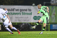 Forest Green Rovers Liam Noble(15) shoots at goal misses the target during the Vanarama National League match between Forest Green Rovers and Tranmere Rovers at the New Lawn, Forest Green, United Kingdom on 22 November 2016. Photo by Shane Healey.