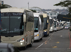 South Africa - Durban - 05 August 2020 - Private Passenger Charter Association ran a slow drive campaign in Durban, demanding the government to refund their license fees paid to the department, because as a direct of the lockdown, their buses have not been able to work<br /> Picture: Doctor Ngcobo/African News Agency(ANA)
