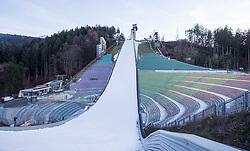27.12.2015, Bergisel Schanze, Innsbruck, AUT, FIS Weltcup Ski Sprung, Vierschanzentournee, Vorberichte, im Bild das Stadion// the stadium during preperation work for the Four Hills Tournament of FIS Ski Jumping World Cup at the Bergisel Schanze, Innsbruck, Austria on 2016/01/02. EXPA Pictures © 2016, PhotoCredit: EXPA/ Jakob Gruber