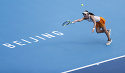 BEIJING, Oct. 2, 2018  Zheng Saisai of China hits a return during the women's singles second round match against Sloane Stephens of the United States at China Open tennis tournament in Beijing, China, Oct. 2, 2018. Zheng lost 0-2. (Credit Image: © Jia Haocheng/Xinhua via ZUMA Wire)